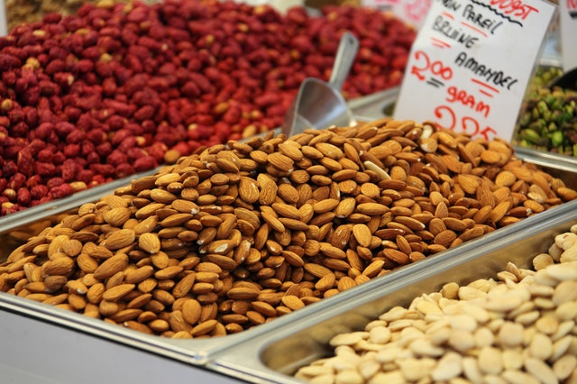 Nuts are a natural source of Vitamin E